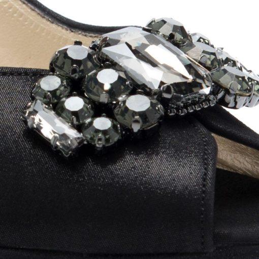 Zapatos altos negros fiesta plataforma RALLYS