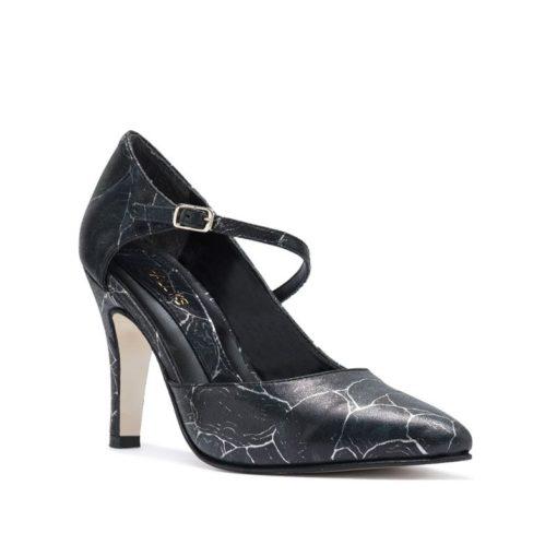 Zapatos color negro y plata RALLYS