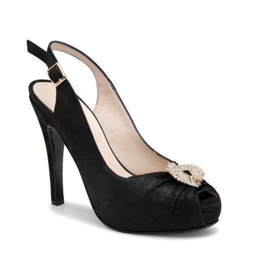 Sandalias negras strass mujer RALLYS