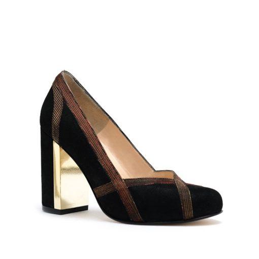 Zapatos negro oro RALLYS
