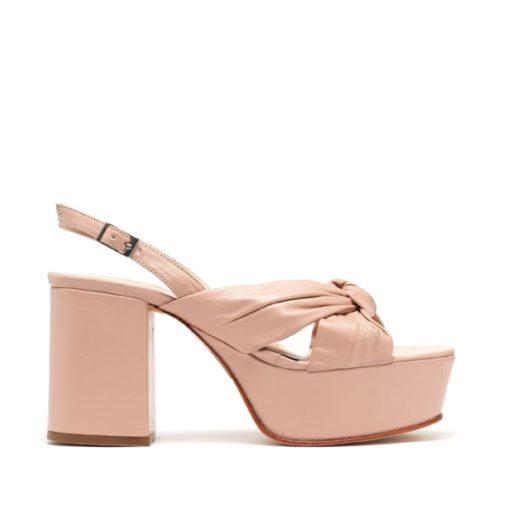 Sandalias en cuero rosa RALLYS