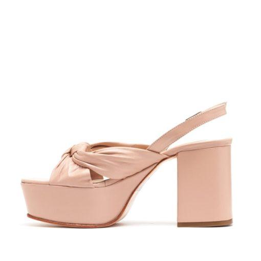Sandalias cuero rosado RALLYS