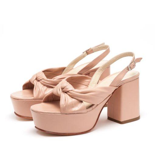 Sandalias rosa con plataforma RALLYS