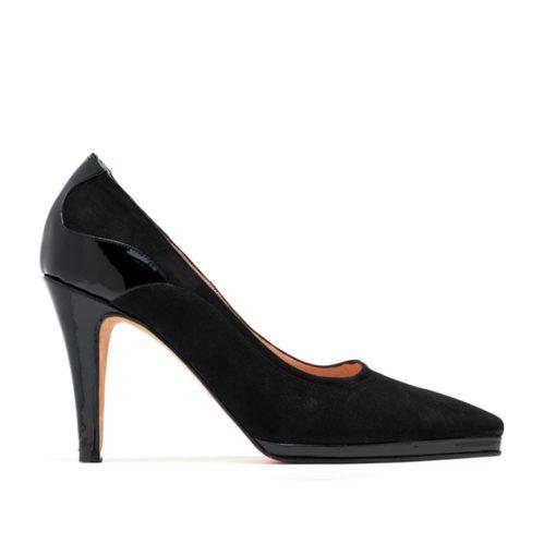 Zapatos con plataforma negros fiesta RALLYS