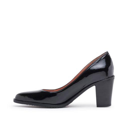 Zapatos altos charol negro RALLYS