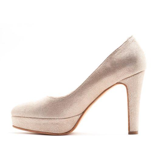Zapatos con plataforma altos crema RALLYS