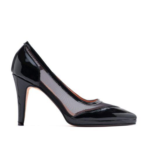 Zapatos con plataforma charol negro fiesta RALLYS