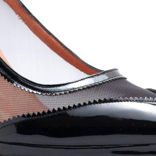 Zapatos fiesta mujer charol color negro RALLYS