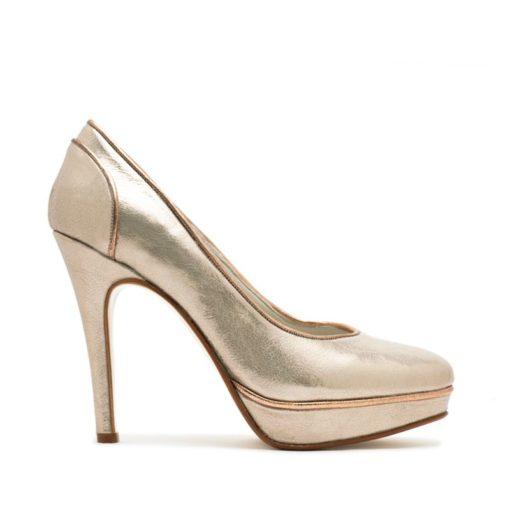 Zapatos metalizados color nude RALLYS