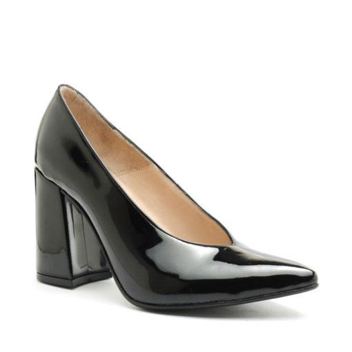 Stilettos en charol color negro RALLYS