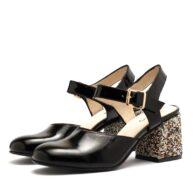 Zapato semi abierto de charol mujer RALLYS