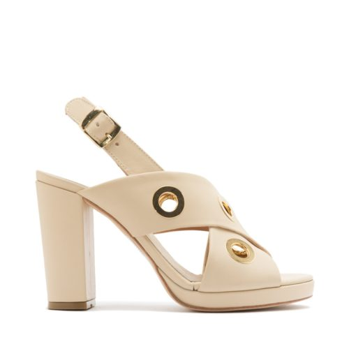 Sandalias cuero natural altas mujer RALLYS