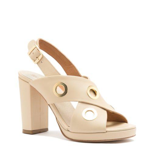 Sandalias altas color crema mujer RALLYS