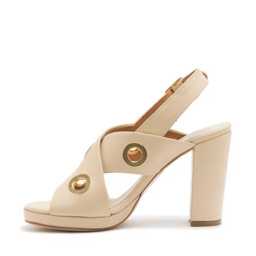 Sandalias altas color crema RALLYS