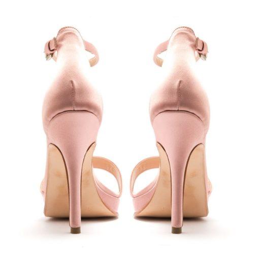 Sandalias con talón raso rosa RALLYS