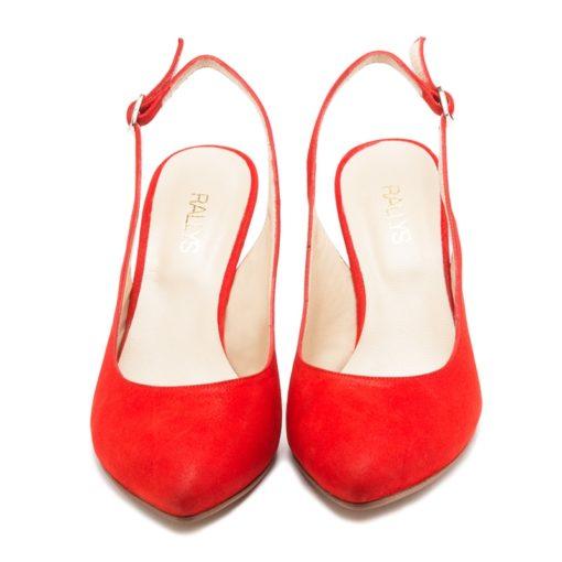 Zapatos sin talón rojos RALLYS