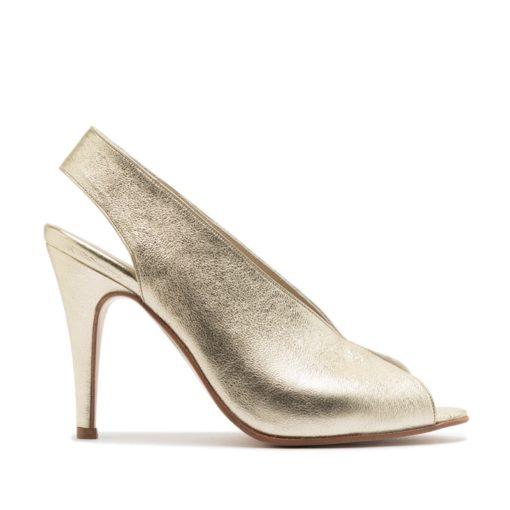 Sandalias color platino RALLYS