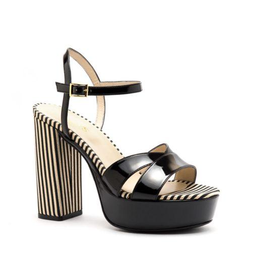 Sandalias altas natural negras RALLYS