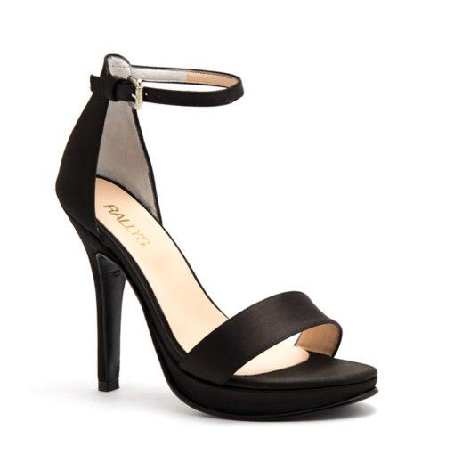 Sandalias negras altas con talón RALLYS