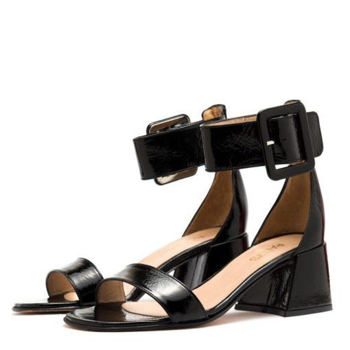 Sandalias negras taco medio mujer RALLYS