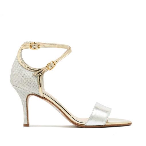 Sandalias con talón plata oro RALLYS