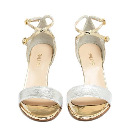 Sandalias plata oro RALLYS