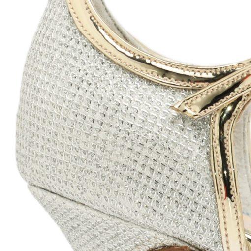 Sandalias con glitter color plata RALLYS
