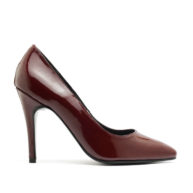 Zapatos taco fino altos bordó RALLYS