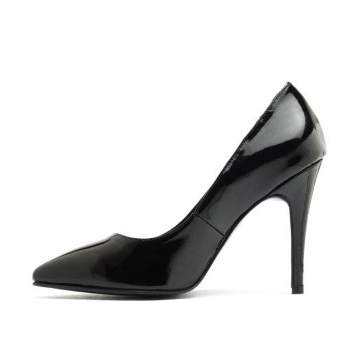 Stilettos color negro charol taco alto RALLYS