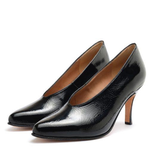 Zapatos altos cerrados en charol negro RALLYS