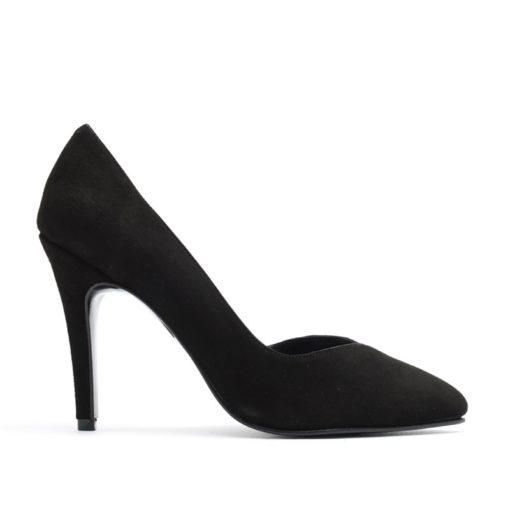 Stilettos negros altos gamuza RALLYS