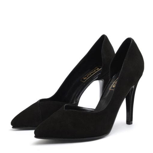Stilettos de gamuza color negro RALLYS