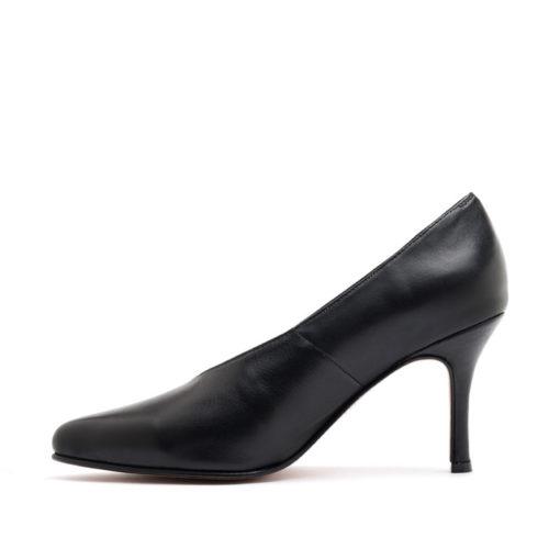 Stilettos en cuero color negro cerrados RALLYS