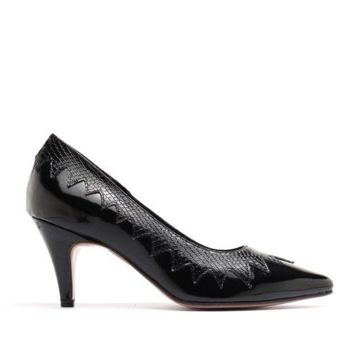 Stilettos de charol negro RALLYS