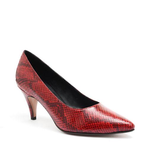 Stilettos color rojo mujer taco medio RALLYS