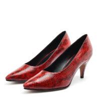 Stilettos color rojo animal print RALLYS