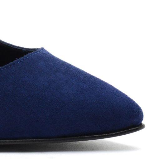 Stilettos de gamuza azul RALLYS
