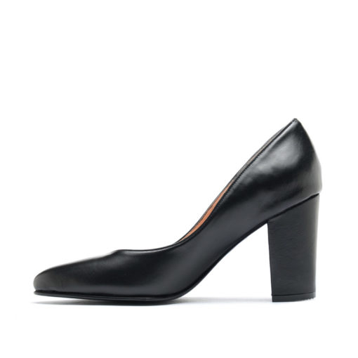 Zapatos altos cuero negro RALLYS
