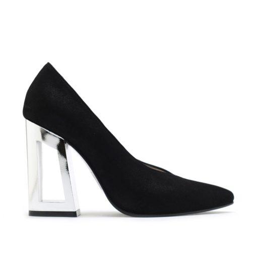 Zapatos mujer fiesta negro plata RALLYS