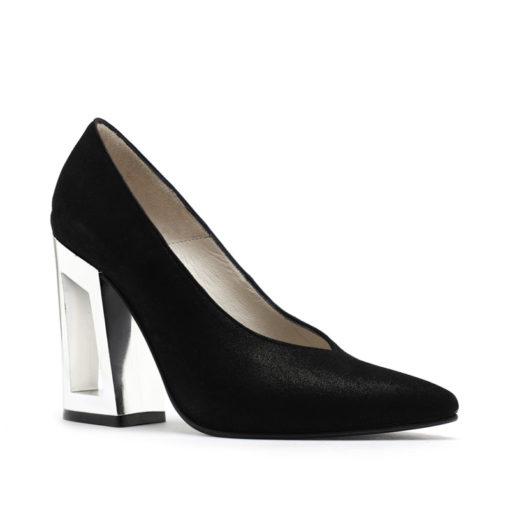 Zapatos fiesta mujer negro y plata RALLYS