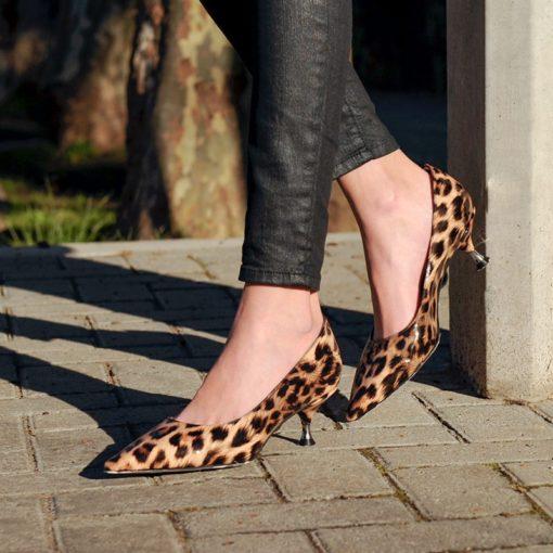 Zapatos stilettos animal print RALLYS