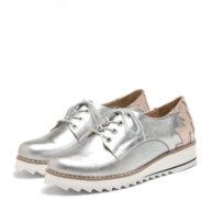 Zapatos cerrados en plata y nude RALLYS