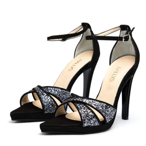 Sandalias negras glitter RALLYS