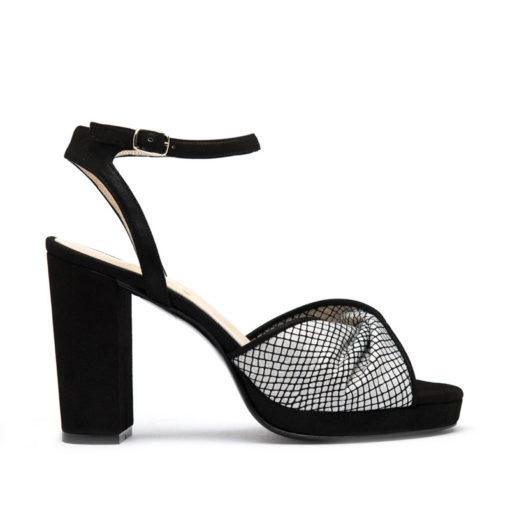 Sandalias con plataforma negras y plata RALLYS