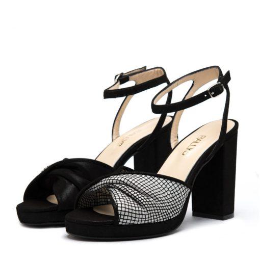 Sandalias negras con plataforma RALLYS