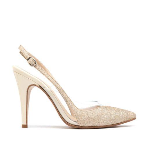 Zapatos mujer fiesta glitter nude RALLYS