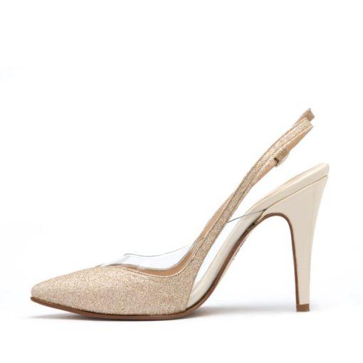 Zapatos fiesta glitter nude RALLYS