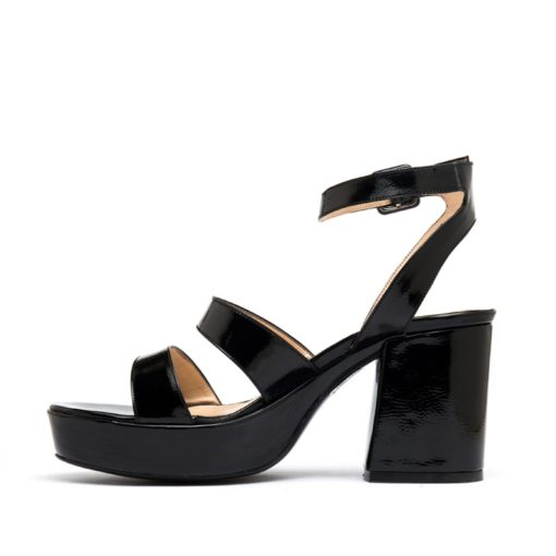 Sandalias charol color negro mujer RALLYS