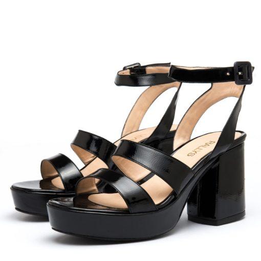 Sandalias mujer negras con plataforma RALLYS