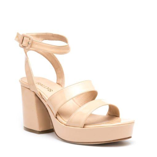 Sandalias altas con pulsera nude RALLYS
